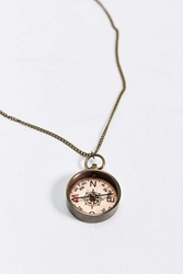 We Are All Smith Antique Compass Necklace Bronze