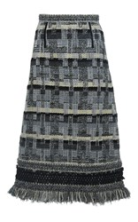 Andrew Gn A Line Tweed Skirt Multi