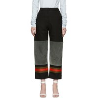 Calvin Klein 205W39nyc Black And Grey Worker Trousers