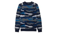 Whistles Camouflage Pattern Sweater Blue Multi