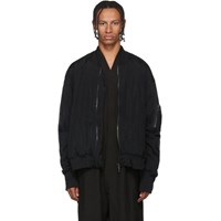 Julius Black Sheer Bomber Jacket