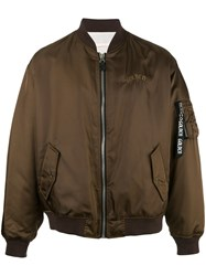 Golden Goose Deluxe Brand Oversized Bomber Jacket Brown