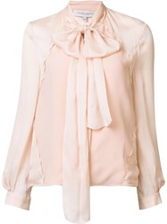 Carolina Herrera Georgette Blouse Pink Purple