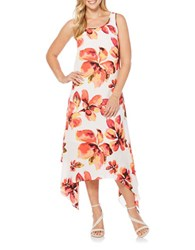 Rafaella Floral Sleeveless Dress White