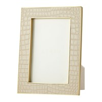 Aerin Classic Croc Leather Photo Frame Fawn 4X6 Neutral