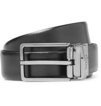 Hugo Boss 3.5Cm Black And Brown Onel G Reversible Leather Belt