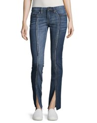 Blank Nyc Distressed Buttoned Jeans Miss Match