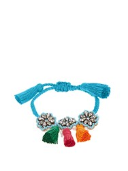 Shourouk Hippie Flower Bracelet Blue
