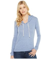 Alternative Apparel Eco Jersey Classic Pullover Hoodie Eco Pacific Blue Women's Sweatshirt