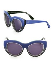 Dax Gabler Cat Eye Sunglasses Blue Ombre