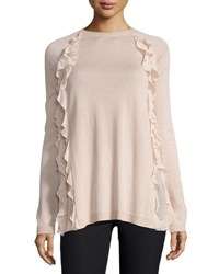 Red Valentino Sweater W Silky Ruffle Detail Neutral Pattern