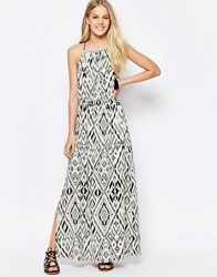 Only Aztec Maxi Dress Bone White W. Aop