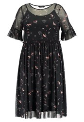 Evans Bird Summer Dress Navy Dark Blue