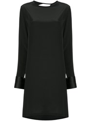 Kacey Devlin Back Cutout Shift Dress Black