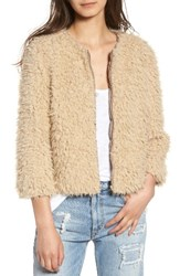 Bb Dakota Women's Macy Faux Fur Jacket Light Camel