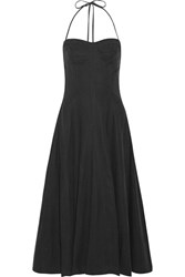 Ulla Johnson Paula Voile Halterneck Dress Midnight Blue