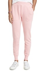 Monrow Distressed Cuff Joggers Peachy Pink