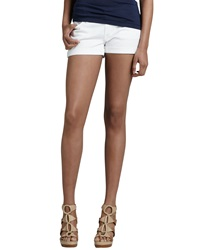 7 For All Mankind Roll Up Jean Shorts White