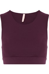 No Ka' Oi Ka'oi Lani Stretch Jersey Sports Bra Burgundy