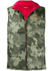 Hackett Camouflage Print Gilet Red