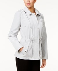 Charter Club Petite Water Resistant Hooded Utility Jacket Only At Macy's Mineral Ice