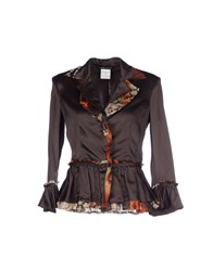 Roberta Scarpa Suits And Jackets Blazers Women Dark Brown