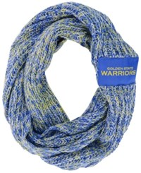 Forever Collectibles Golden State Warriors Peak Infinity Scarf Blue Yellow
