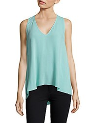 Bcbgmaxazria Aileen Solid Hi Lo Tank Top Light Surf