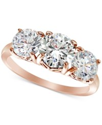 Giani Bernini Cubic Zirconia Trinity Ring In Sterling Silver Created For Macy's Rose Gold