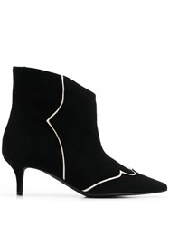 Marc Ellis Lined Detail Ankle Boots Black