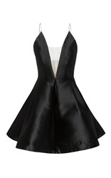 Alex Perry The Ciara Silk Bikini Crinoline Mini Dress Black
