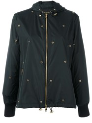 Salvatore Ferragamo Studded Jacket Black