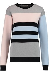 Etre Cecile Striped Jersey Sweater Light Blue