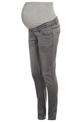 Mama Licious Sussi Slim Fit Jeans Grey