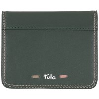 Tula Violet Leather Card Holder Wallet Green