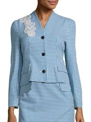 Creatures Of The Wind Jepy Houndstooth Jacket Blue White