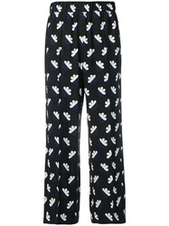 Odeeh Floral Print Trousers Blue