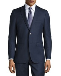 Dkny Two Piece Slim Fit Suit Blue Pattern