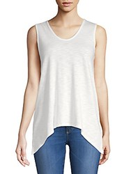 Saks Fifth Avenue V Neck Tank Top Navy
