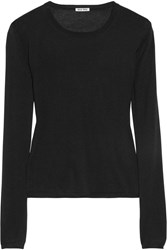 Miu Miu Cashmere And Silk Blend Sweater Black