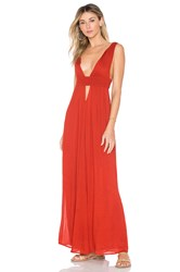 Indah Anjeli Maxi Dress Red