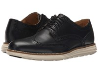 Cole Haan Original Grand Wingtip Black White Ii Men's Lace Up Wing Tip Shoes