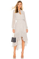 1.State Mock Neck High Low Dress White