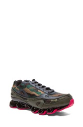 Raf Simons X Adidas Bounce Sneakers In Green Abstract Pink Black