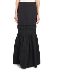 Dries Van Noten Sidis Taffeta Maxi Skirt Black