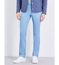 Brioni Livingo Regular Fit Straight Jeans Sky Blue