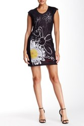 Desigual Printed Cap Sleeve Dress Black