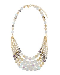 Emily And Ashley Beaded White Stone Statement Necklace