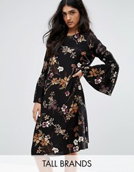 Y.A.S Tall Canto Floral Printed Dress With Bell Sleeve Multi