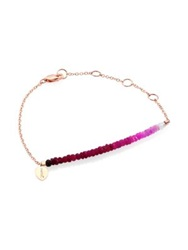 Meira T Ruby And 14K Rose Gold Gradient Beaded Bracelet